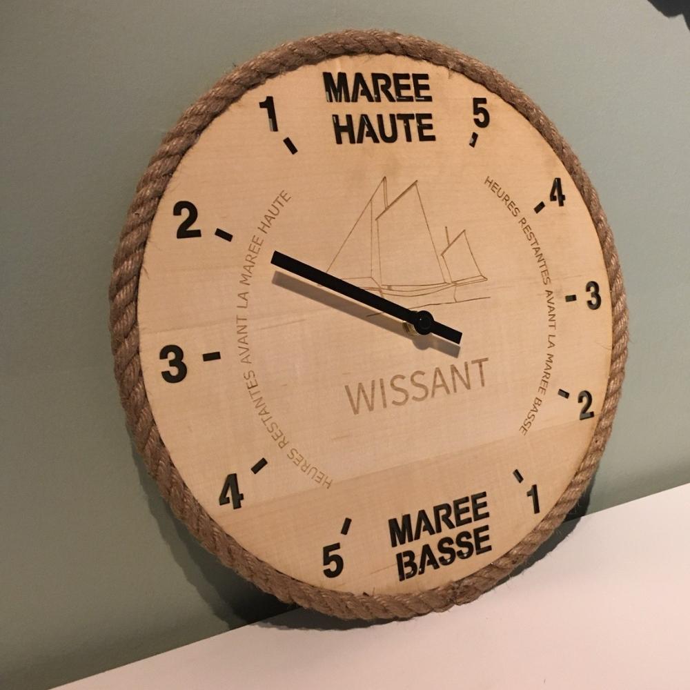 Horloge des marées Wissant et son flobart - Tide-Tac 3