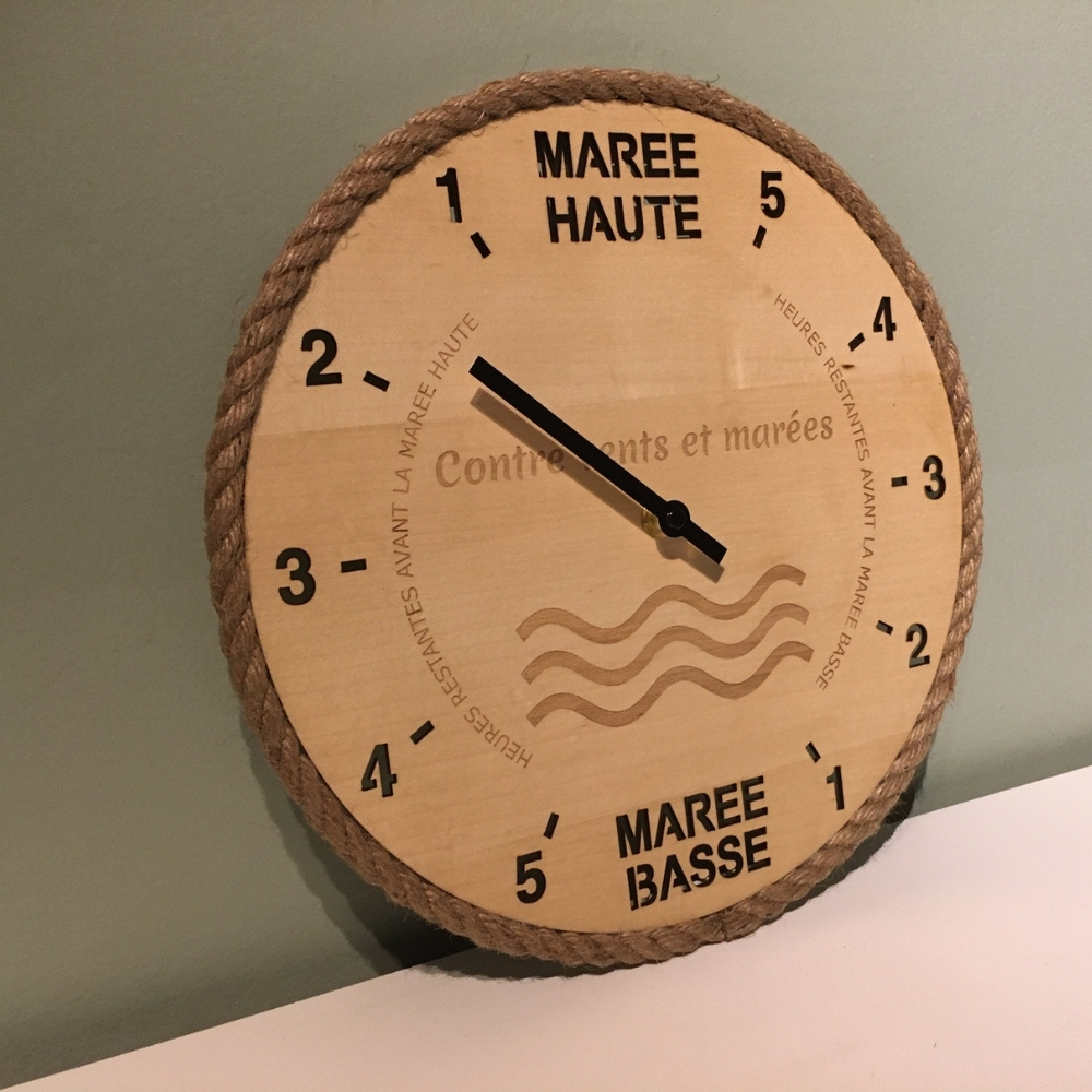Horloge des marées gravée contre vents et marées - Tide-Tac 3